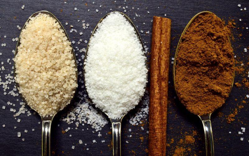 сахар белый коричневый